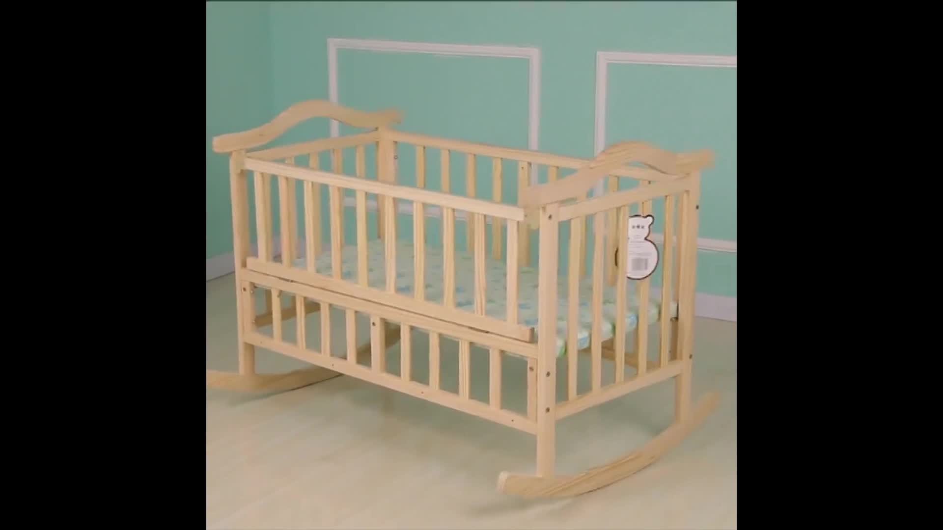 Cot Dimensions Kids Furniture Raw Material Baby Cot Wooden Baby Cot