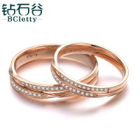 Diamond Valley 18k Rose Gold Couple Diamond Ring Wedding ...