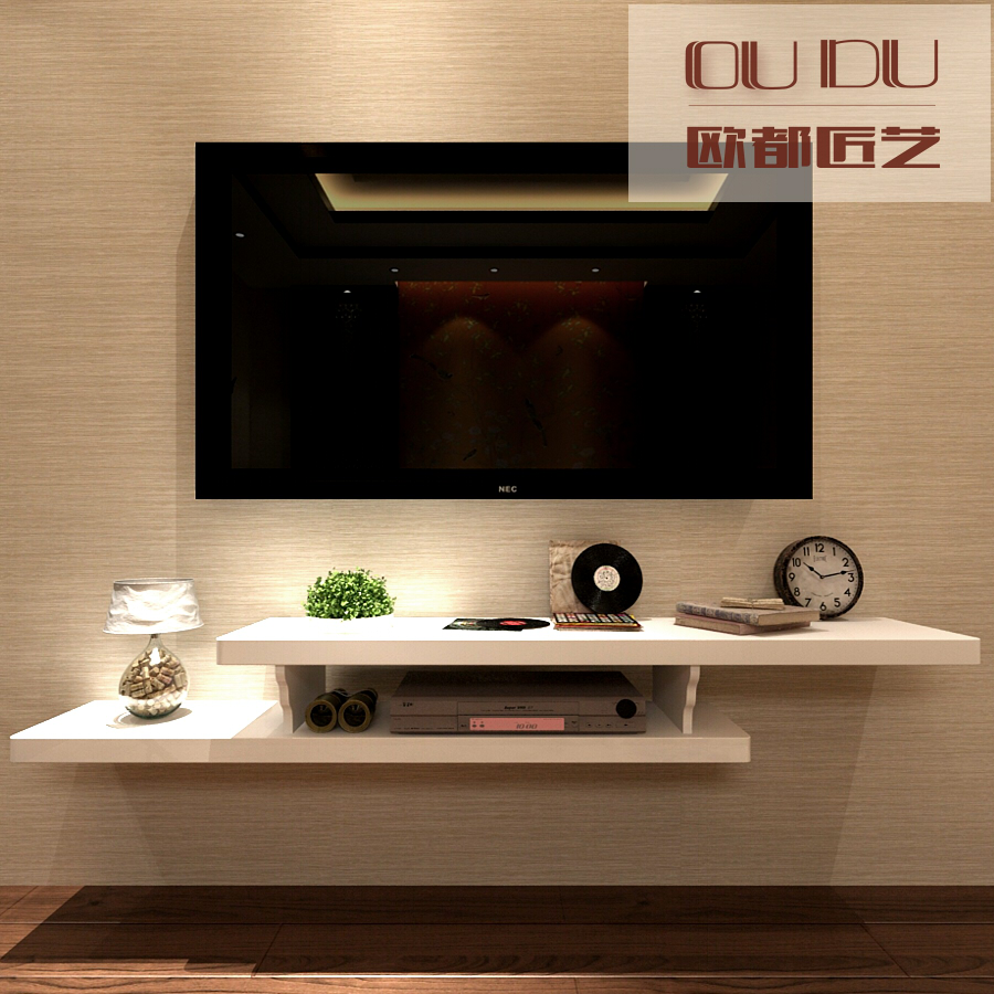 Small Tv Wall Shelf Creative Small Apartment Wall Mounted Tv Cabinet Bedroom Wall
