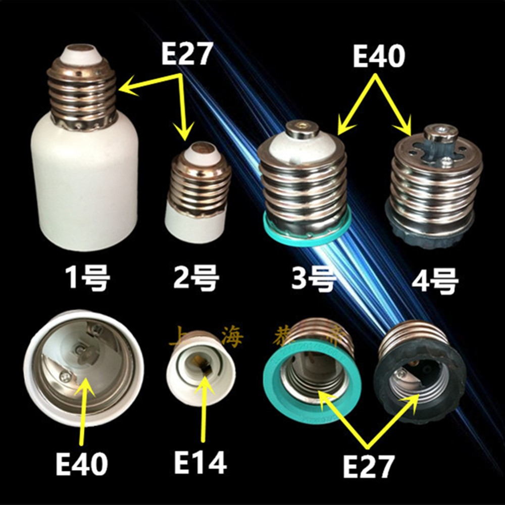 E14 E27 Adapter Led Bulb Lamp Holder Converter E40 To E27 To E14 Adapter E40 Socket Lamp Holder Interface Switch Ceramic