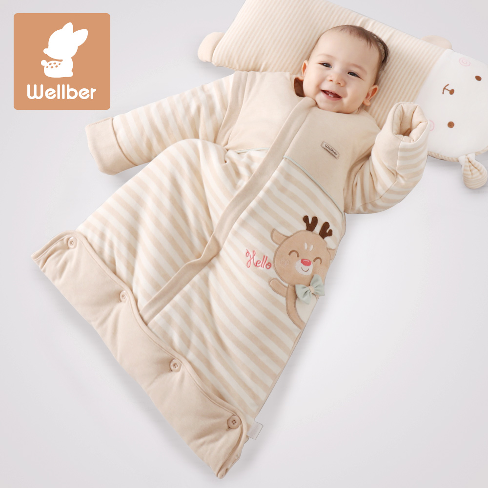 Cotton Baby Sleeping Bag Will Beiru Cotton Newborn Baby Sleeping Bag Autumn And Winter Padded Cotton Baby Sleeping Bag Children Anti Kick Was