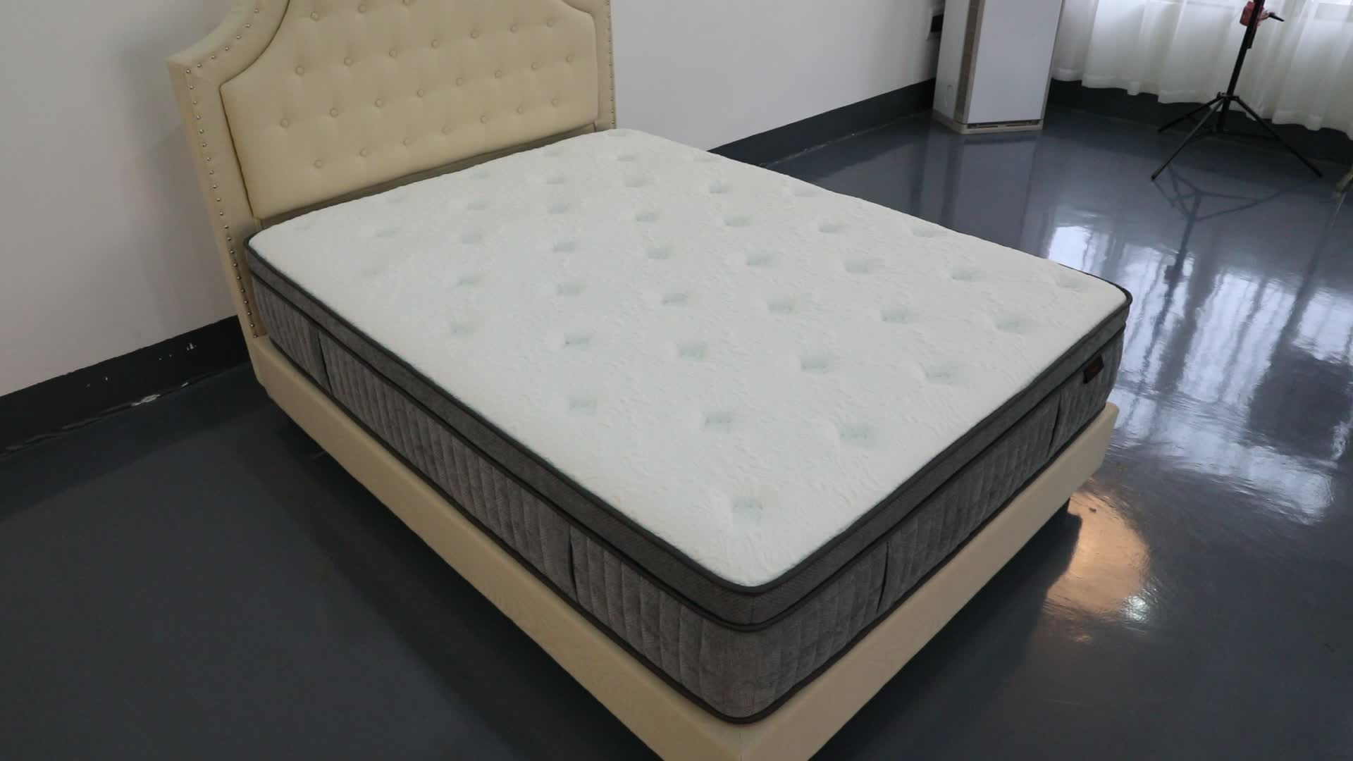 Buy Queen Mattress Diglant Pocket Spring Foam Queen Size Plush Traditional