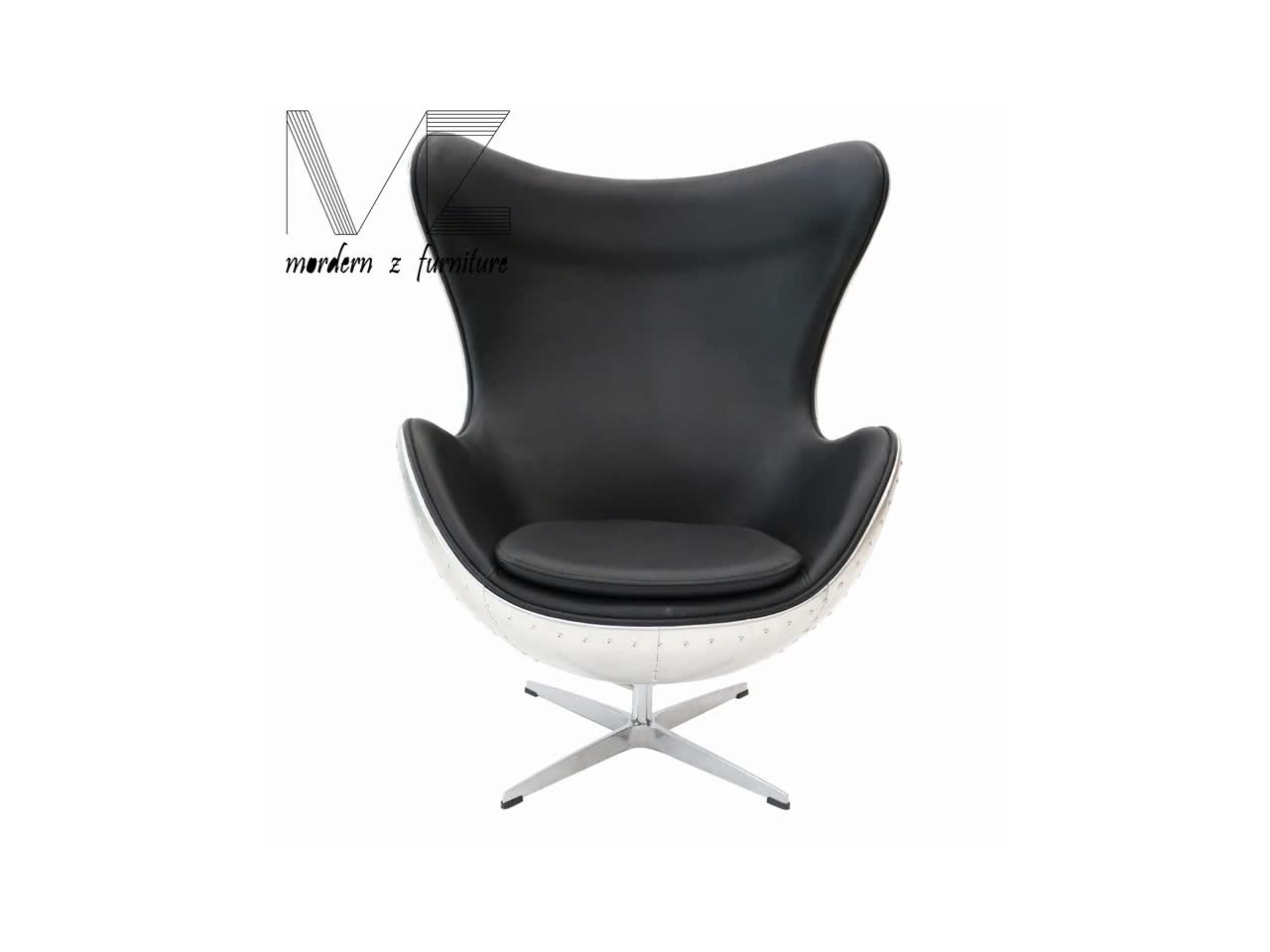 Buy Egg Chair Luxury Leather Egg Chair With Swivel Function Buy Indoor