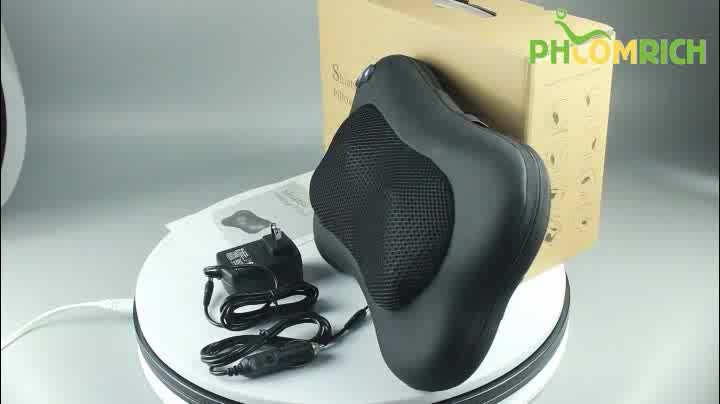 Back Pillow Massager With Heated Rollers Shiatsu Neck