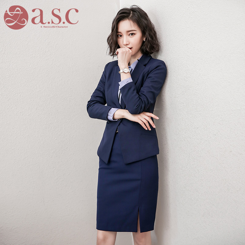 AI still Chen occupation female skirt suit spring interview dress Ms suit