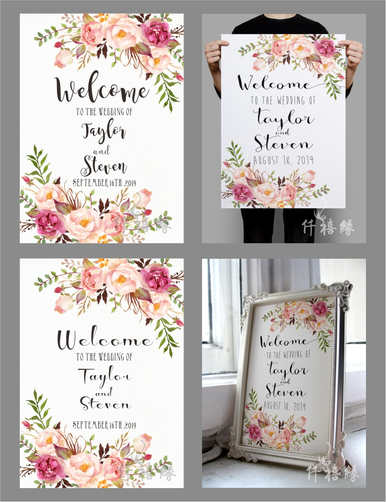 USD 1998 Sen Department of new wedding welcome card poster water