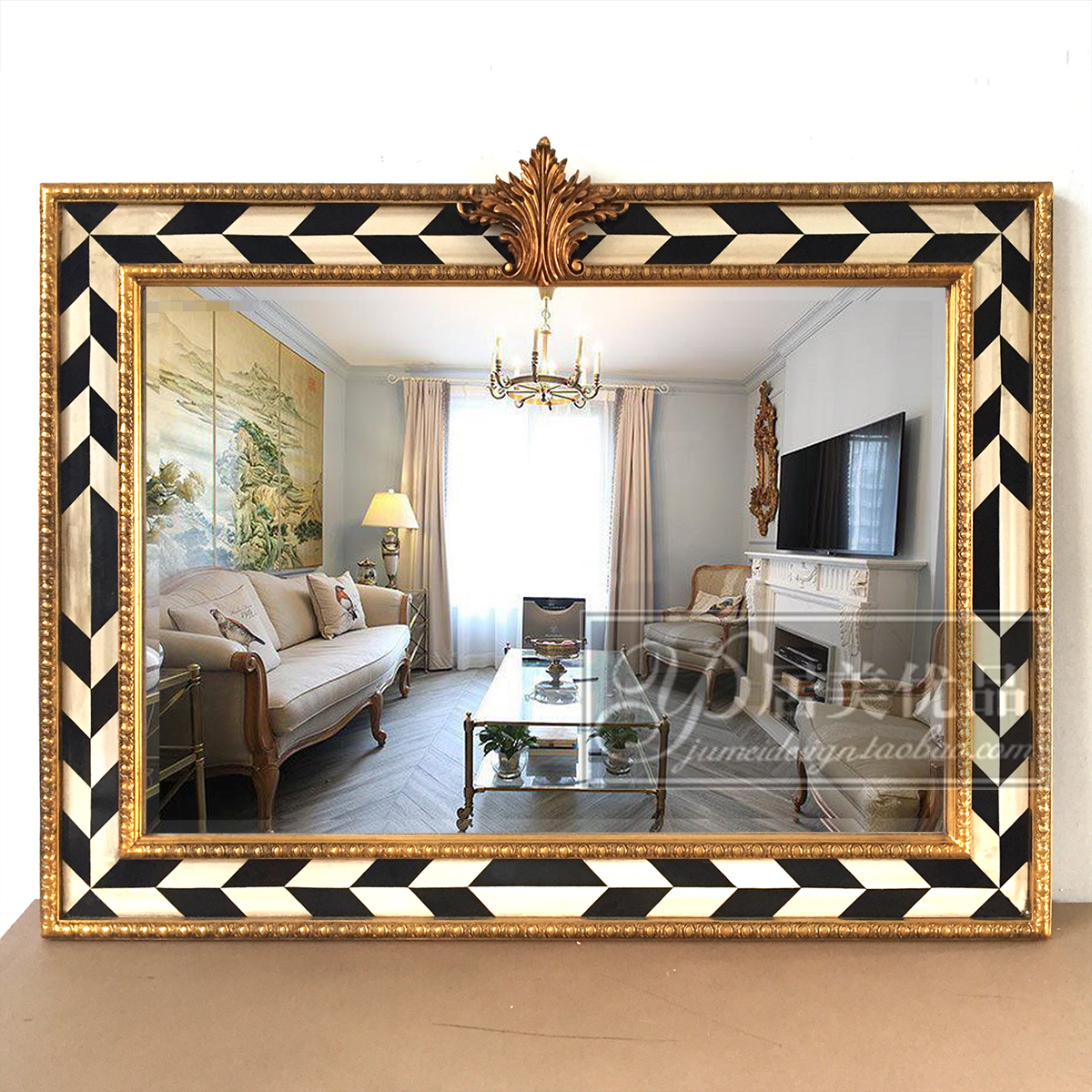 Decorative Mirror Decorative Mirror Entrance Mirror Fireplace Mirror European Wall Mirror French Bathroom Mirror American Dining Room Living Room Wall Mirror