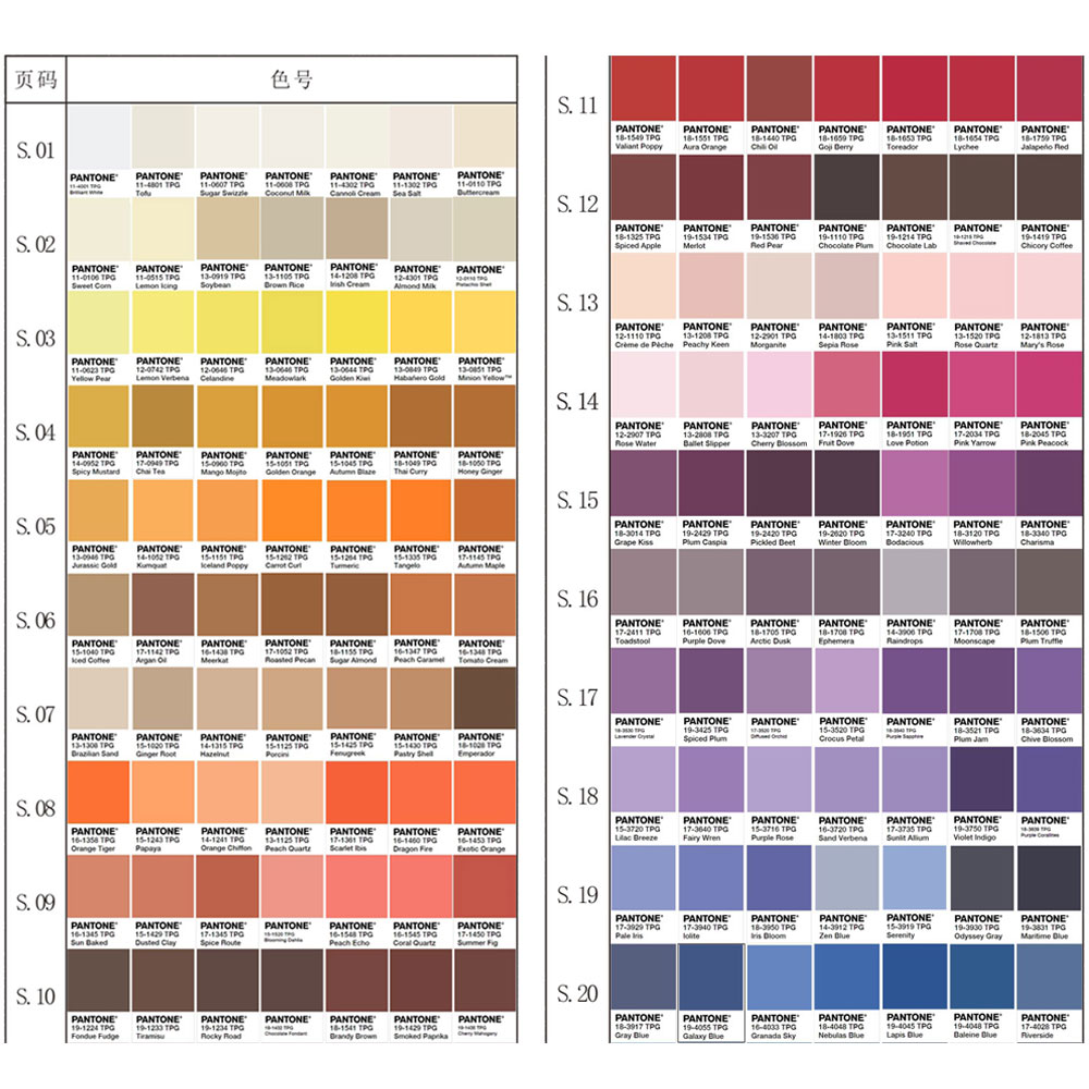 Pantone Color 2016 Genuine 2016 International Edition Pantone Color Card Tpg New Color 210 Color Single Color Sale Optional