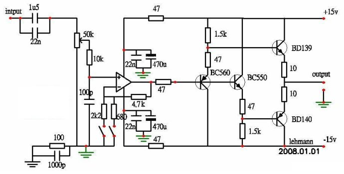 hi fi headphone amplifier circuit