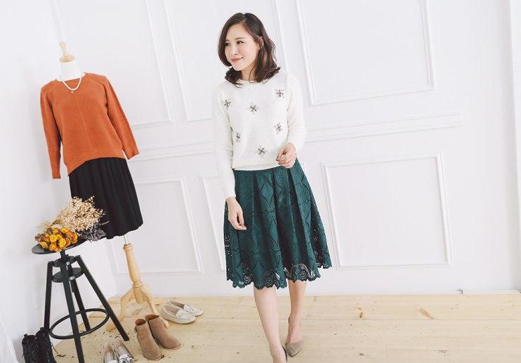 【穿搭】搭配不可少的蕾絲裙、紗裙&顯瘦牛仔褲~♥ NAVY雙娜 (正韓)