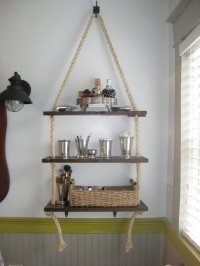 Rope Shelves - 32 Seaworthy Beach Themed Bathrooms You Can ...