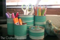 Tin Cans... - 7 Creative Ways to Decorate with Washi Tape
