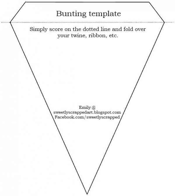Bunting Template - 49 Fab DIY Banners to Make Your Next Party\u2026