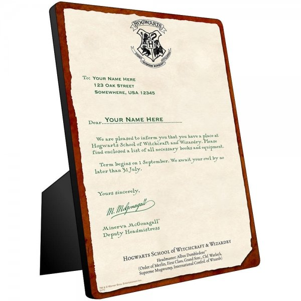Personalized Hogwarts Acceptance Letter - 7 Awesome Gifts for\u2026 - hogwarts acceptance letter