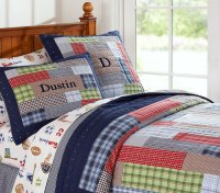 Pottery Barn Kids Dustin Quilted Bedding - 8 Best Bedding ...