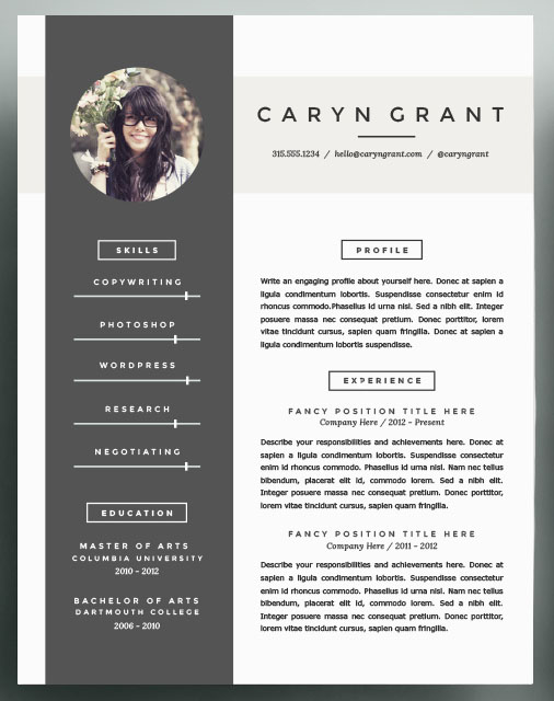 Beautiful Resume Templates to take into 2016 → Community - Beautiful Resume Templates