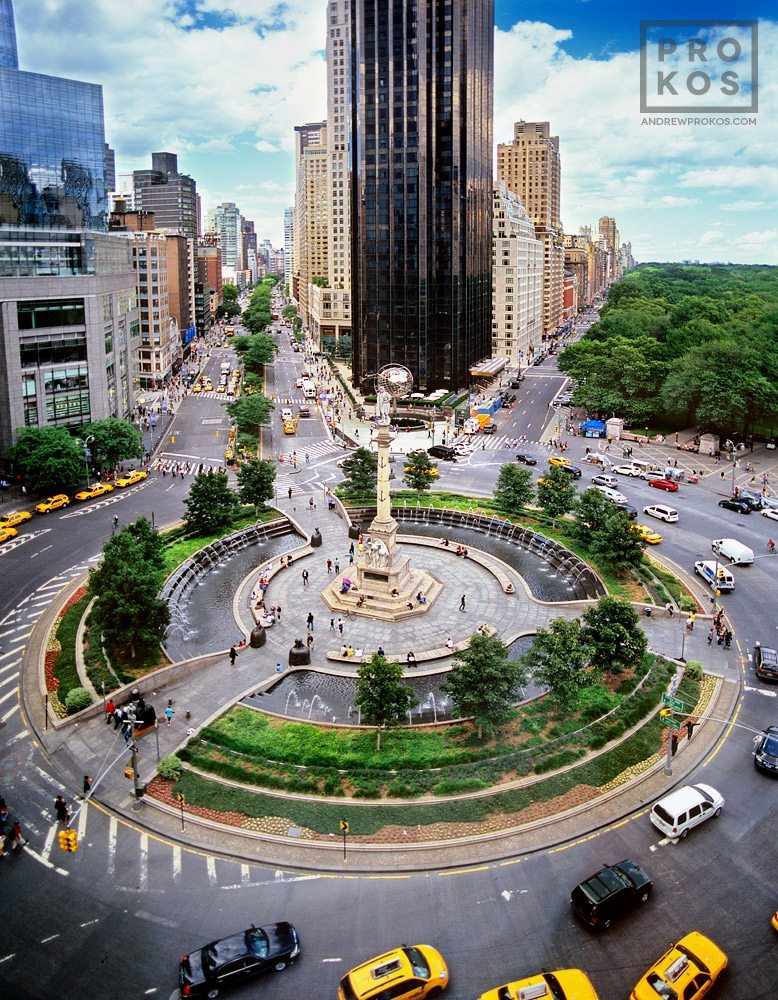Fall High Definition Wallpapers Elevated View Of Columbus Circle Ii Fine Art Photo By
