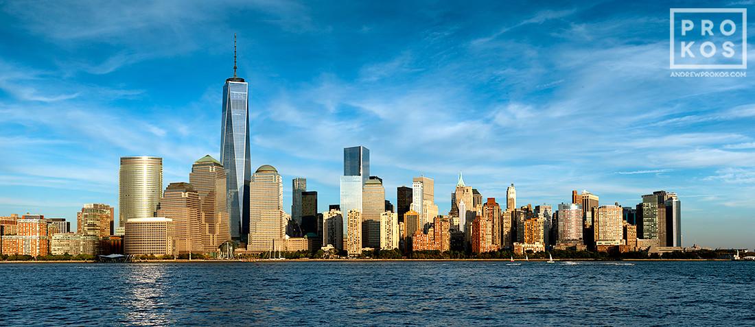 Brooklyn Bridge Wallpaper Black And White Panoramic Skyline Of Lower Manhattan And World Trade