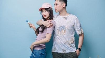 【主題穿搭】畫報風格初登場♡粉×藍的春季Couple look