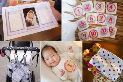 【團購】留下小寶貝珍貴的手足膜!成長記錄貼、推車掛勾、安撫巾