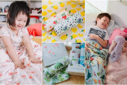 【育兒】史上最美紗布巾美國Little Unicorn♥設計師手繪圖案讓人瘋狂著迷