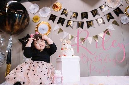 【慶生】妳是我們心目中的完美BABY!黑金色系的二週歲生日Party(內有彩蛋)