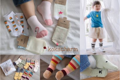 【育兒】耐看氣質又可愛的韓國製Kokacharm繽紛童襪+家居服+小內褲!