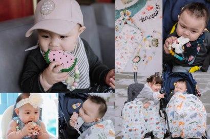 【育兒】爸爸媽媽看了都會融化的~好夢幻~加拿大Loulou Lollipop固齒器&竹纖維透氣包巾