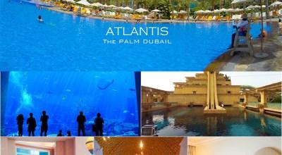 【2015蜜月】六星級ATLANTIS THE PALM亞特蘭提斯酒店.超酷滑水道&超美水族箱