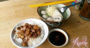 【台南美食】開元路魚皮湯。沒有招牌的人氣小吃~台南人早餐都愛這一味!肉燥飯 x 虱目魚湯