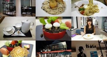 【台中西區】咖啡瑪榭Cafe Marche(台中店);超可愛盆栽提拉米蘇,居然連盆栽都能吃下肚!燉飯、義大利麵水準都不錯,適合約會的歐風餐廳~
