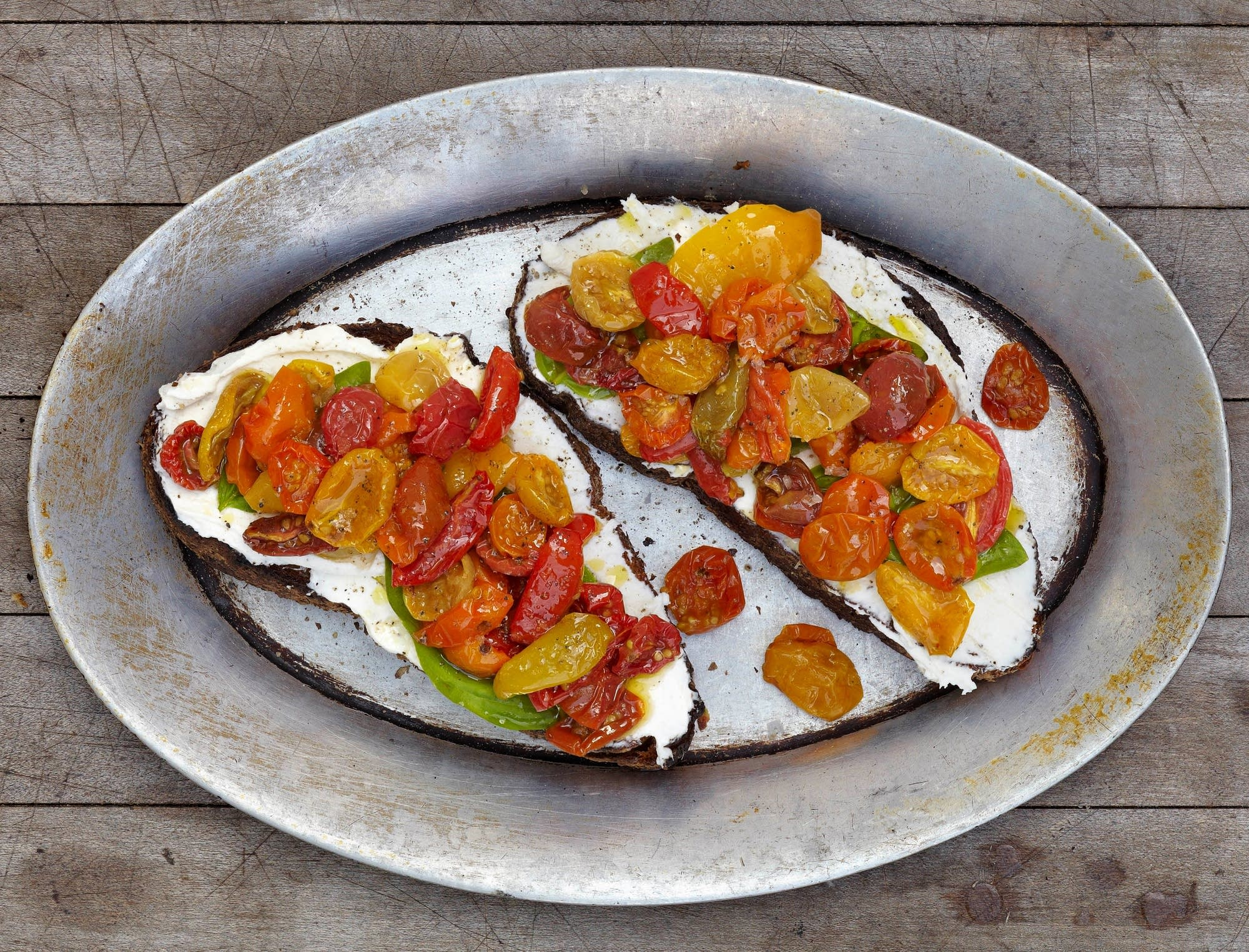 Roasted Cherry Tomatoes With Ricotta The Splendid Table