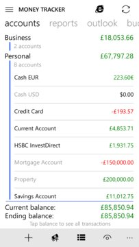 Money Tracker Pro XAP 3960 - Free Personal Finance App for