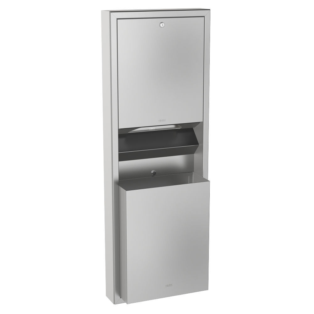 Wall Mount Paper Towel Dispensers Wall Mounted Paper Towel Dispenser Stainless Steel With Trash