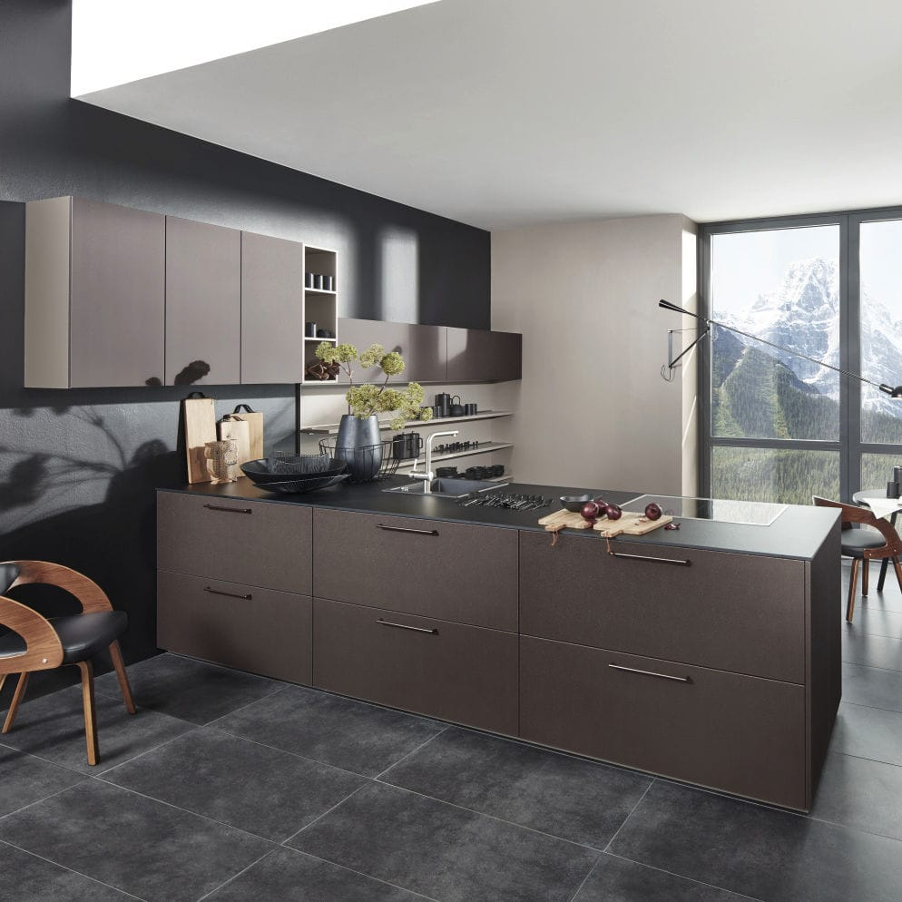 Küchen Nolte Contemporary Kitchen Laminate Island Lacquered Nappa