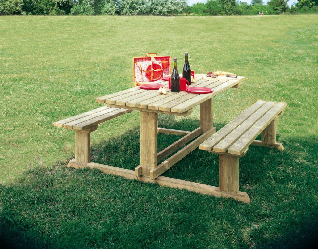 Mesas De Madera Para Camping Traditional Picnic Table Wooden Rectangular For Public