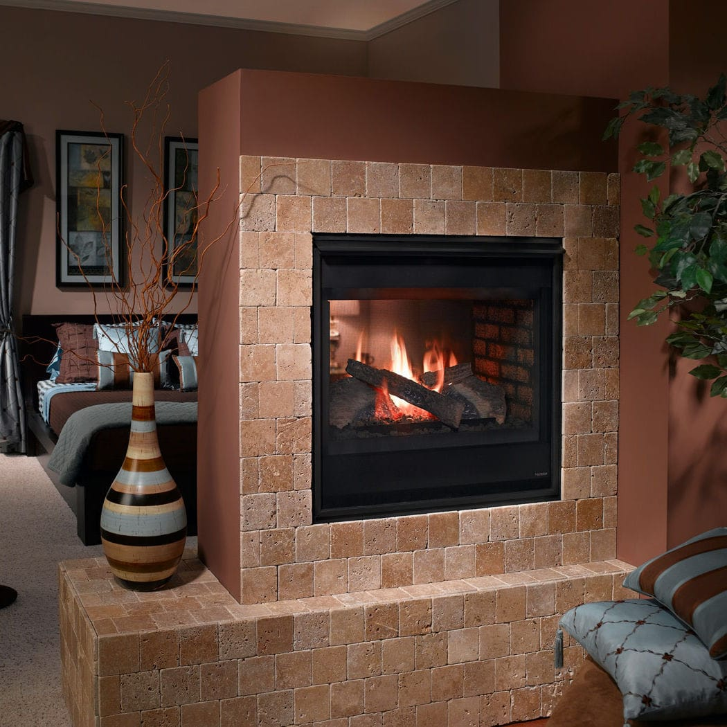 Novus Fireplace Gas Fireplace Traditional Closed Hearth Double Sided Heatilator