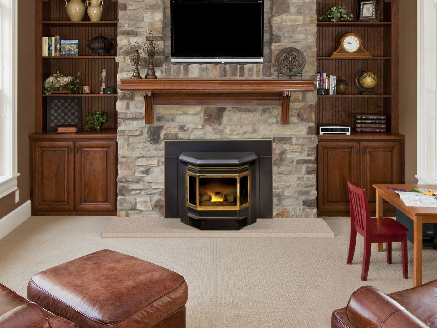 Insert Cheminee A Pellets Pellet Fireplace Insert 3 Sided Classic Bay 1200 Quadra Fire
