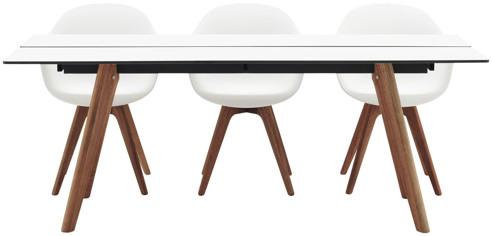 product laminate kitchen table Dining table contemporary wooden laminate ADELAIDE BoConcept