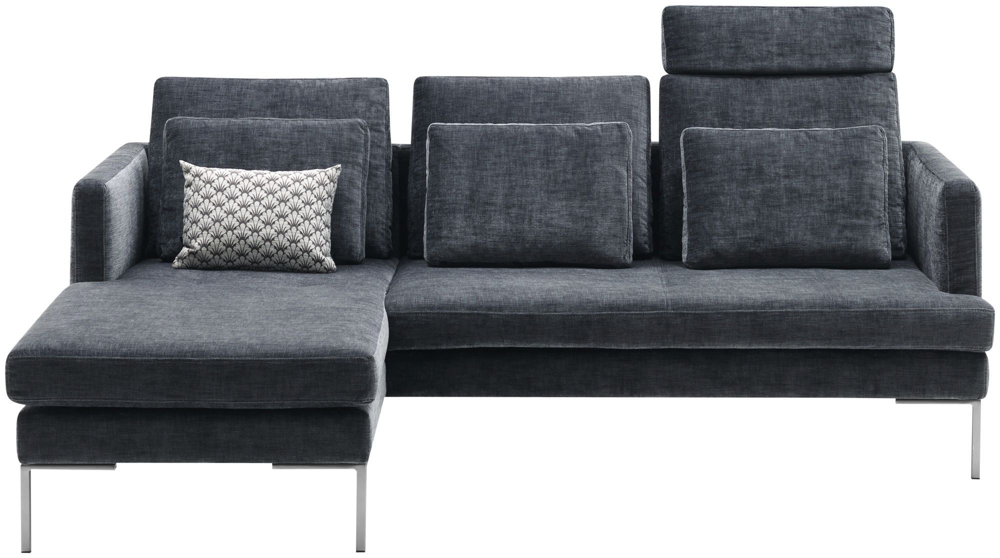 Boconcept Sofa Corner Sofa Contemporary Leather Fabric