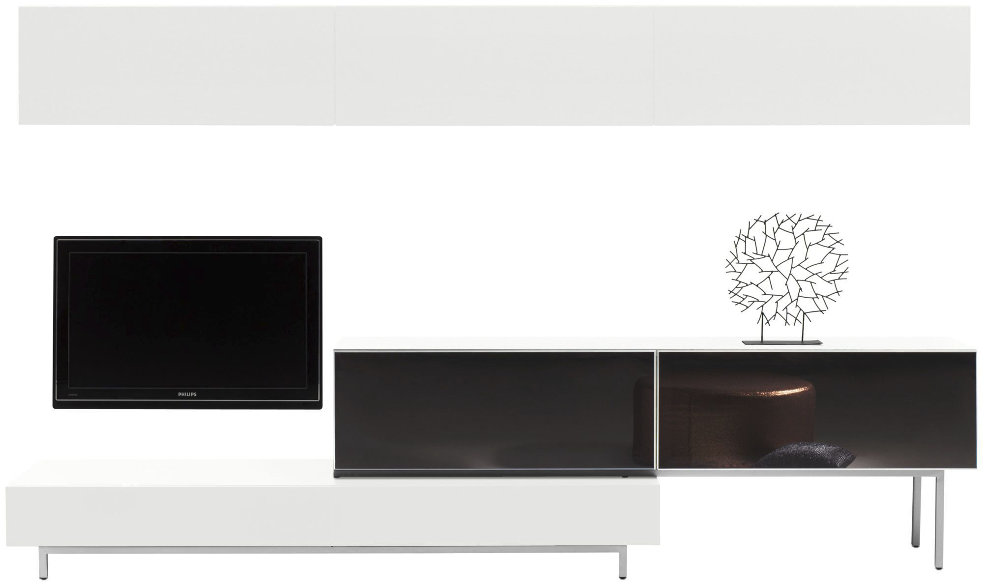 Meuble Tv Bo Concept Contemporary Tv Cabinet Wooden Glass Steel