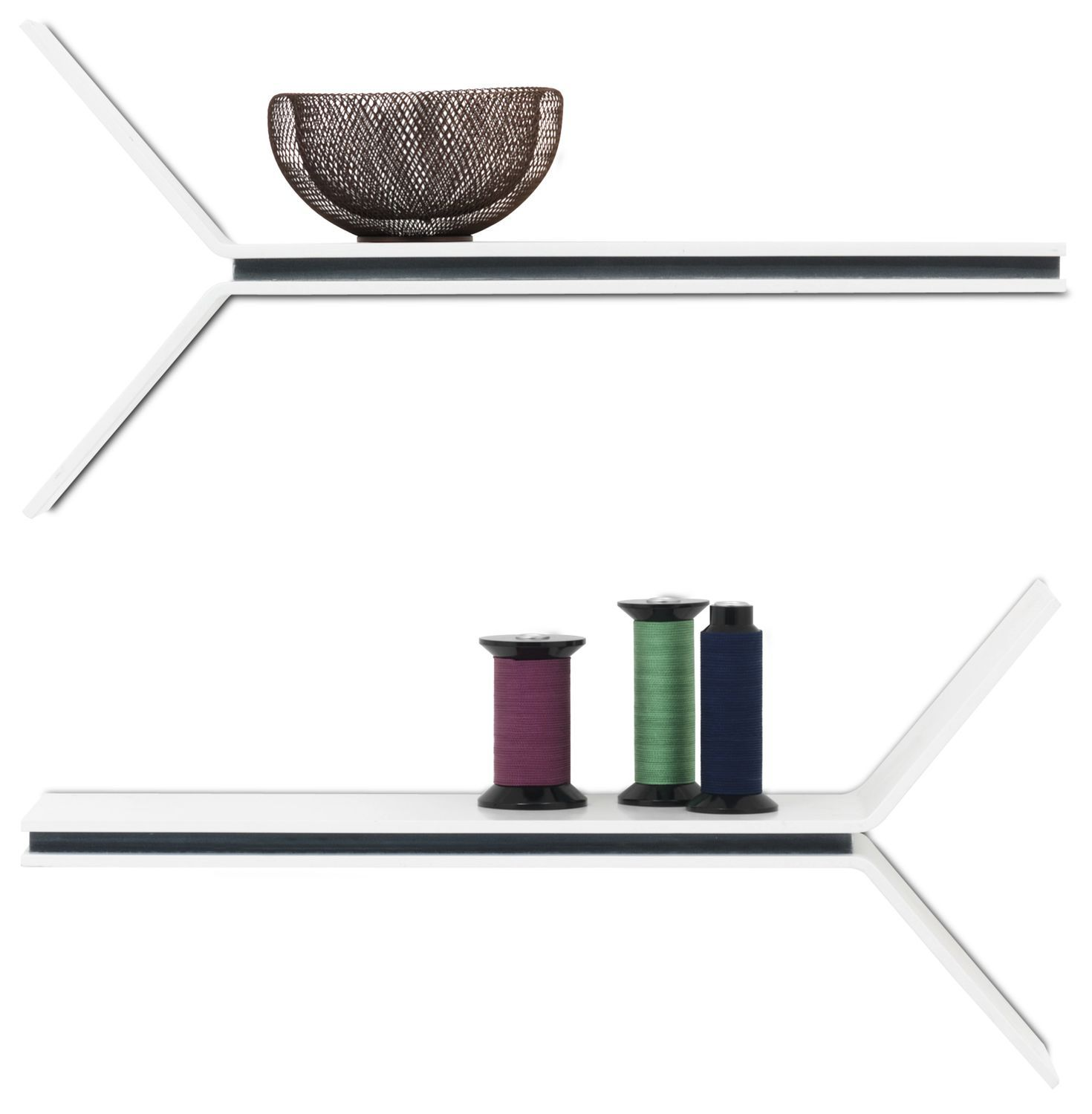 Boconcept Büromöbel Wall Mounted Shelf Contemporary Lacquered Wood Mdf