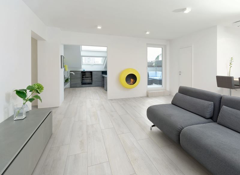 Indoor tile \/ living room \/ floor \/ porcelain stoneware - SAVAGE - living room floor