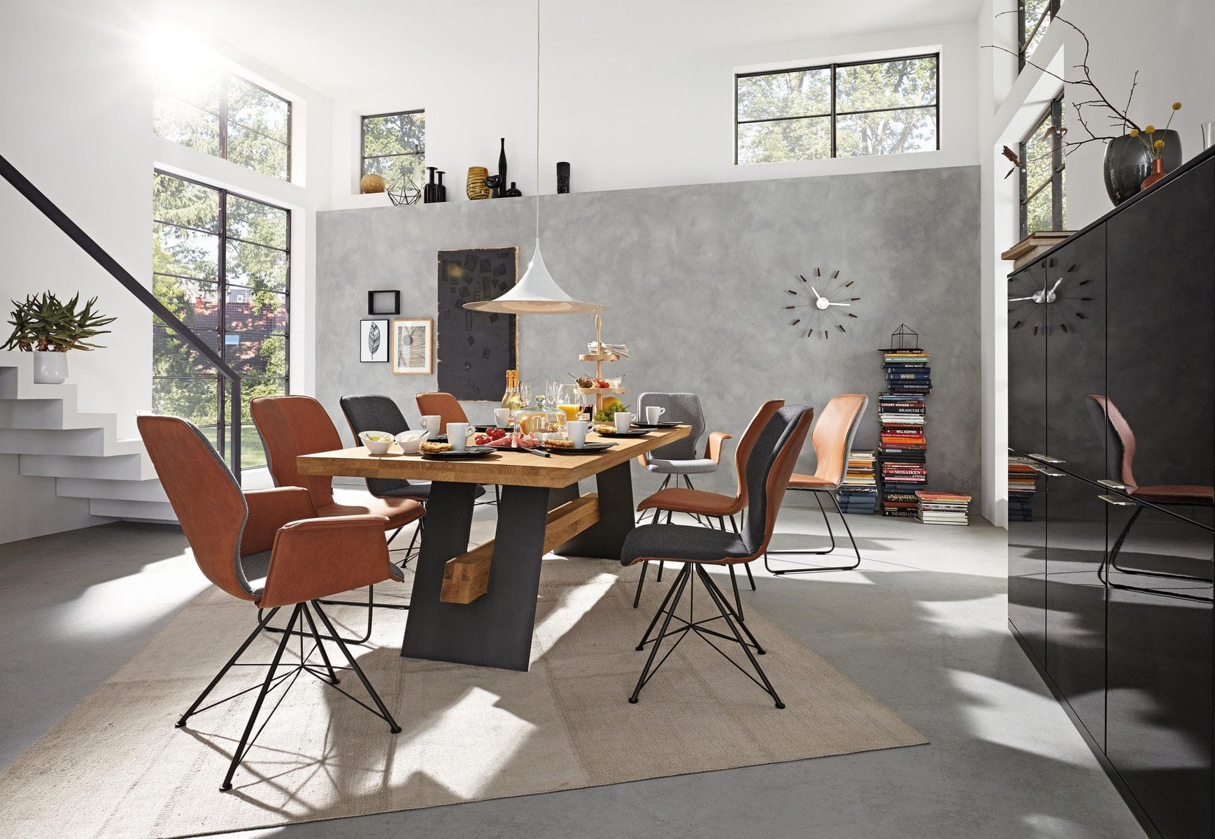 Esszimmerstühle Leder Musterring Contemporary Dining Chair Upholstered Sled Base Cantilever