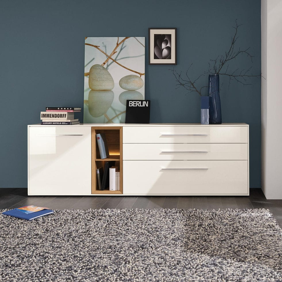 Contemporary Sideboard Alexa Musterring Wooden With Shelf