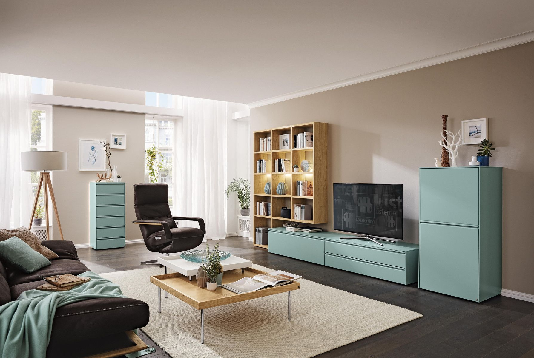 Contemporary Tv Wall Unit Modena Musterring Wooden