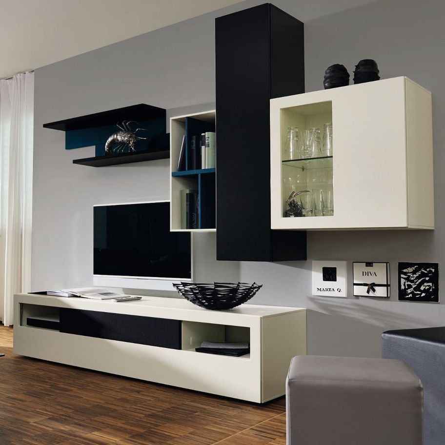 Wood Wall Behind Tv Contemporary Tv Wall Unit Lacquered Wood Glossy Lacquered Wood Modular Now Vision 990001 Now By Hülsta