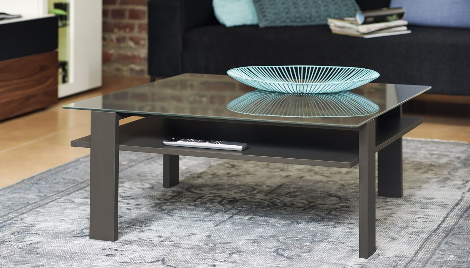 Contemporary Coffee Table Now Vision Ct 19 Now By Hülsta Walnut Lacquered Wood Lacquered Glass