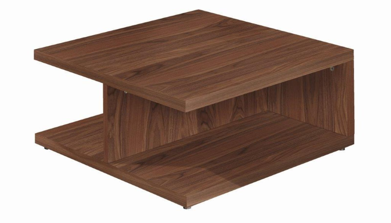 Now Time Couchtisch Ct 18 Contemporary Coffee Table Walnut Lacquered Glass Square