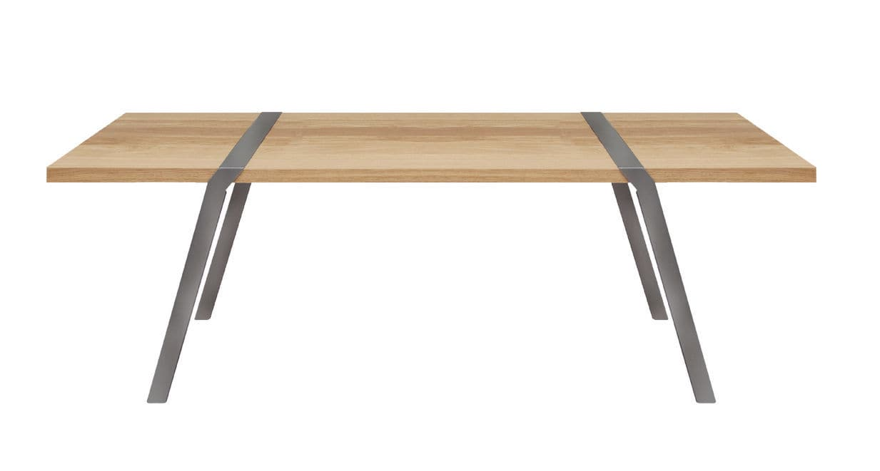Couchtisch Montain Oak Contemporary Dining Table Metal Oak Solid Wood Pi02 By